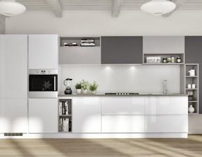 Cucina bianca moderna lineare Easy 5 Ar-due in offerta
