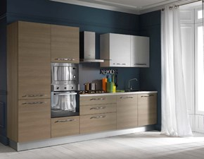 Cucina bianca moderna lineare Easy Arrex-2 scontata