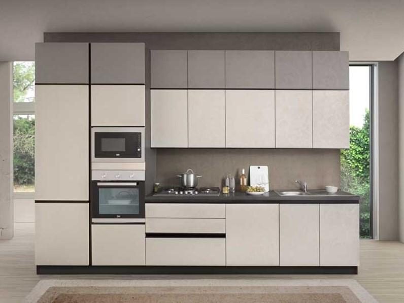 Cucina bianca moderna lineare essential evo nuovi mondi cucine - Cucina bianca moderna lineare ...