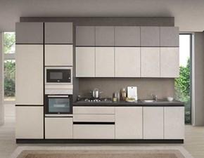 Cucina bianca moderna lineare Essential evo Nuovi mondi cucine
