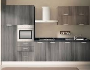 Cucina bianca moderna lineare Gemma 2 Artigianale in Offerta Outlet
