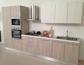 Cucina bianca moderna lineare Gemma3 Artigianale scontata