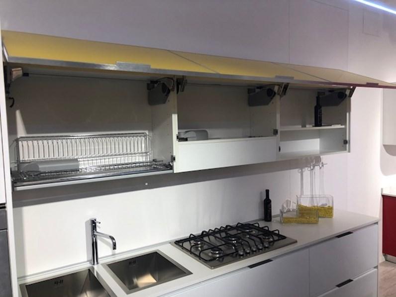 Cucina bianca moderna lineare gentili 19 gentili cucine - Cucina bianca moderna lineare ...