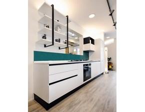 Cucina bianca moderna lineare Ginevra  Aran cucine in Offerta Outlet
