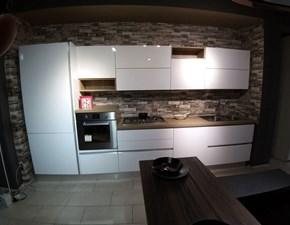 Cucina bianca moderna lineare Ginevra Aran