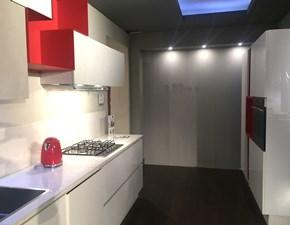 Cucina bianca moderna lineare Infinity/ diagonal Stosa cucine