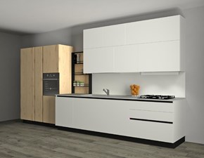 Cucina bianca moderna lineare Infinity Stosa cucine in Offerta Outlet
