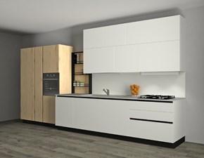Cucina bianca moderna lineare Infinity Stosa cucine in Offerta Outlet