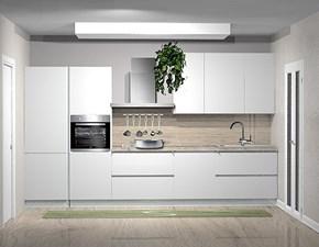 Cucina bianca moderna lineare Joy e smart Gicinque cucine scontata