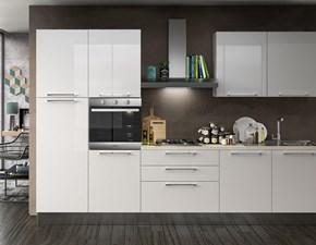 Cucina bianca moderna lineare Juliet Concreta cucine in offerta