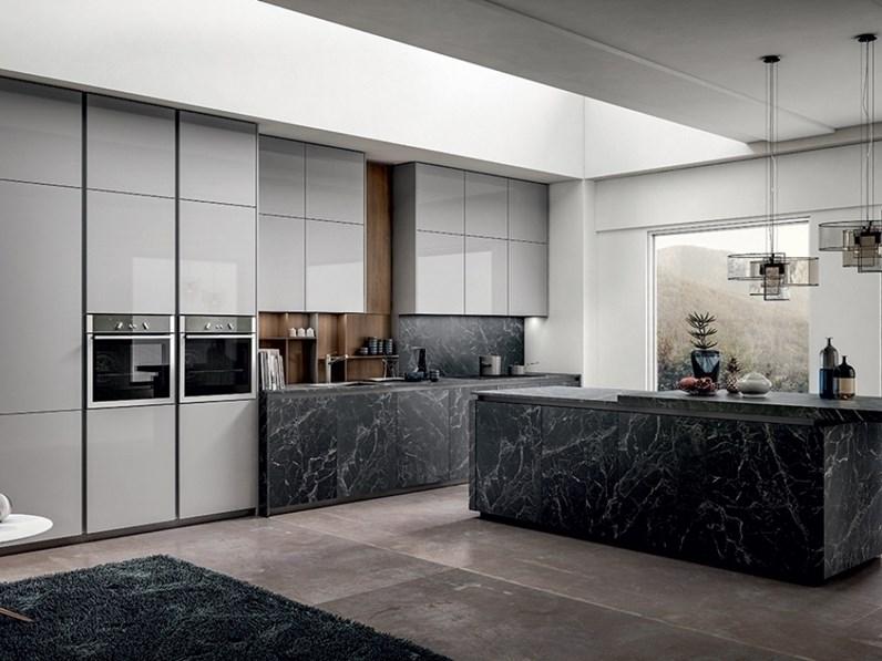 Cucina bianca moderna lineare kal arredo3 in offerta outlet for Arredo3 kali prezzo
