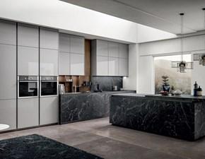 Cucina bianca moderna lineare Kalì Arredo3 in Offerta Outlet