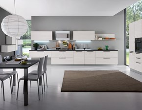 Cucina bianca moderna lineare Kali' Mottes selection in Offerta Outlet
