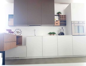 Cucina bianca moderna lineare Linea / murano Mesons in Offerta Outlet