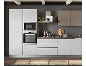 Cucina bianca moderna lineare Love Essebi cucine in Offerta Outlet
