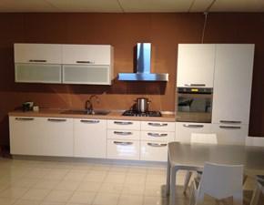 Cucina bianca moderna lineare Maya Nova cucine in Offerta Outlet