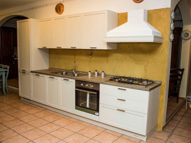 Cucina bianca moderna lineare Melograno Le fablier scontata