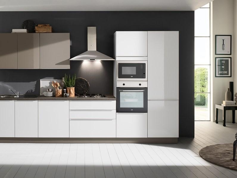 Cucina bianca moderna lineare Mia 360 five Mobilturi cucine in ...