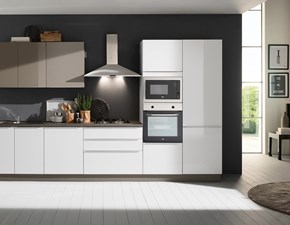 Cucina bianca moderna lineare Mia 360 five Mobilturi cucine in Offerta Outlet