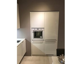 Cucina bianca moderna lineare Mood Scavolini scontata