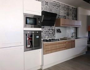 Cucina bianca moderna lineare Mood Stosa cucine in Offerta Outlet