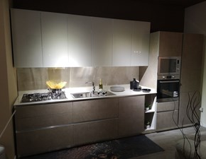 Cucina bianca moderna lineare My glass Gicinque in Offerta Outlet