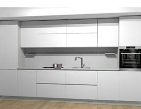 Cucina bianca moderna lineare Oslo smart Gicinque cucine
