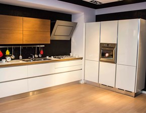 Cucina bianca moderna lineare Oyster veneta cucine  Veneta cucine in Offerta Outlet
