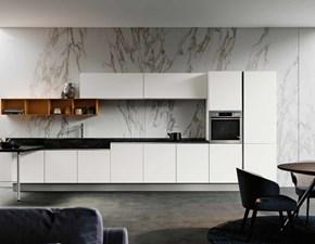 Cucina bianca moderna lineare Panarea Imab in Offerta Outlet