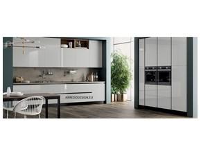 Cucina bianca moderna lineare Pd14 * Artigianale