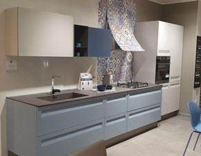 Cucina bianca moderna lineare Rewind Stosa cucine