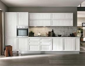 Cucina bianca moderna lineare Talea Artec scontata