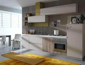 Cucina bianca moderna lineare Time Dibiesse in Offerta Outlet