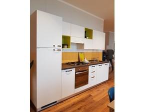 Cucina bianca moderna lineare Urban Scavolini in Offerta Outlet