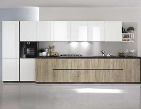 Cucina bianca moderna lineare Vivere 1 Spagnol cucine in Offerta Outlet