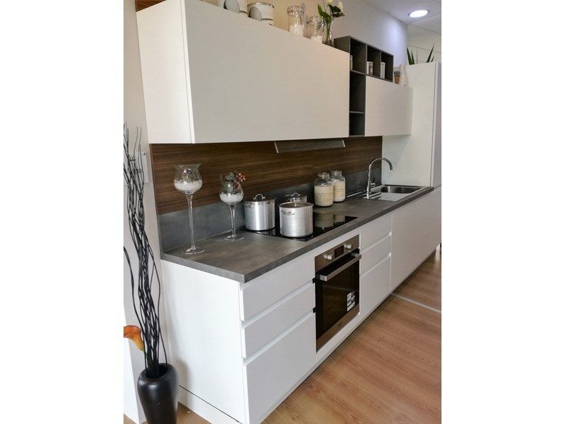 Cucina bianca moderna lineare wega arredo3 - Cucina bianca moderna lineare ...