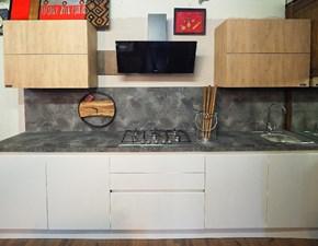 Cucina bianca moderna lineare white e rovere oak Nuovi mondi cucine in offerta