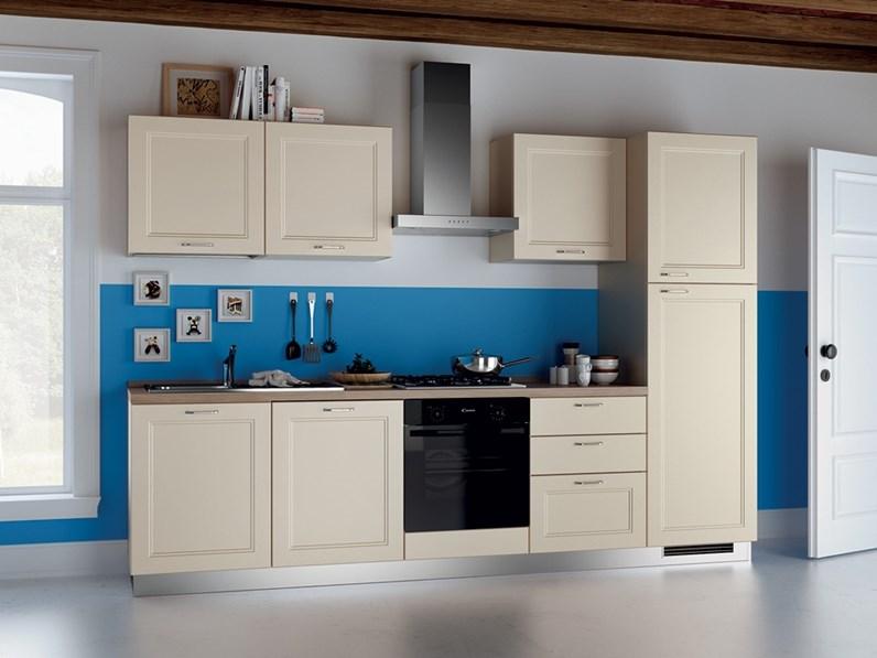 Cucina bianca provenzale lineare easy colony scavolini - Cucina provenzale bianca ...