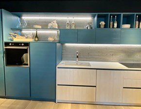 Cucina blu country lineare New step Fratelli mirandola in Offerta Outlet