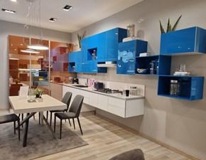 Cucina blu moderna ad angolo Tetrix Scavolini