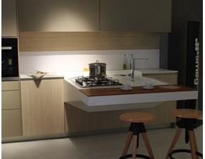 Cucina Board design tortora con penisola Snaidero