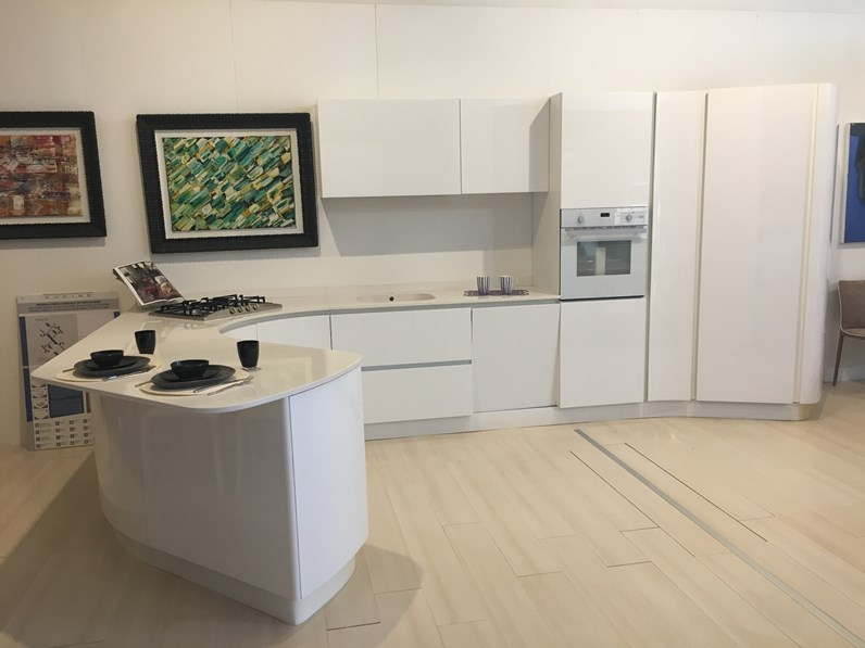 Cucina Bontempi Casa Vawe Lucido Bianco Prezzo Outlet - Cucine ...
