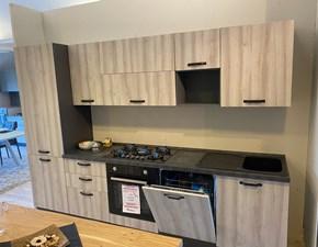 Cucina Brio anta stondata moderna rovere chiaro lineare Mobilturi cucine