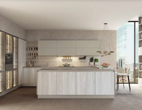 Cucina Camilla moderna bianca ad isola Febal