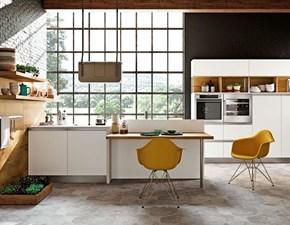Cucina Capri rovere decapato e bianco moderna altri colori lineare Imab group