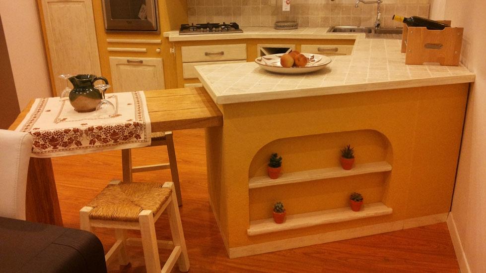 Cucina carlini muratura classica legno bianca   cucine a prezzi ...