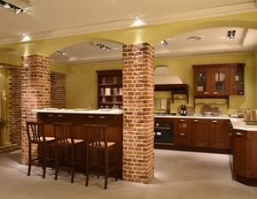Cucina Casale classica noce ad isola Berloni cucine