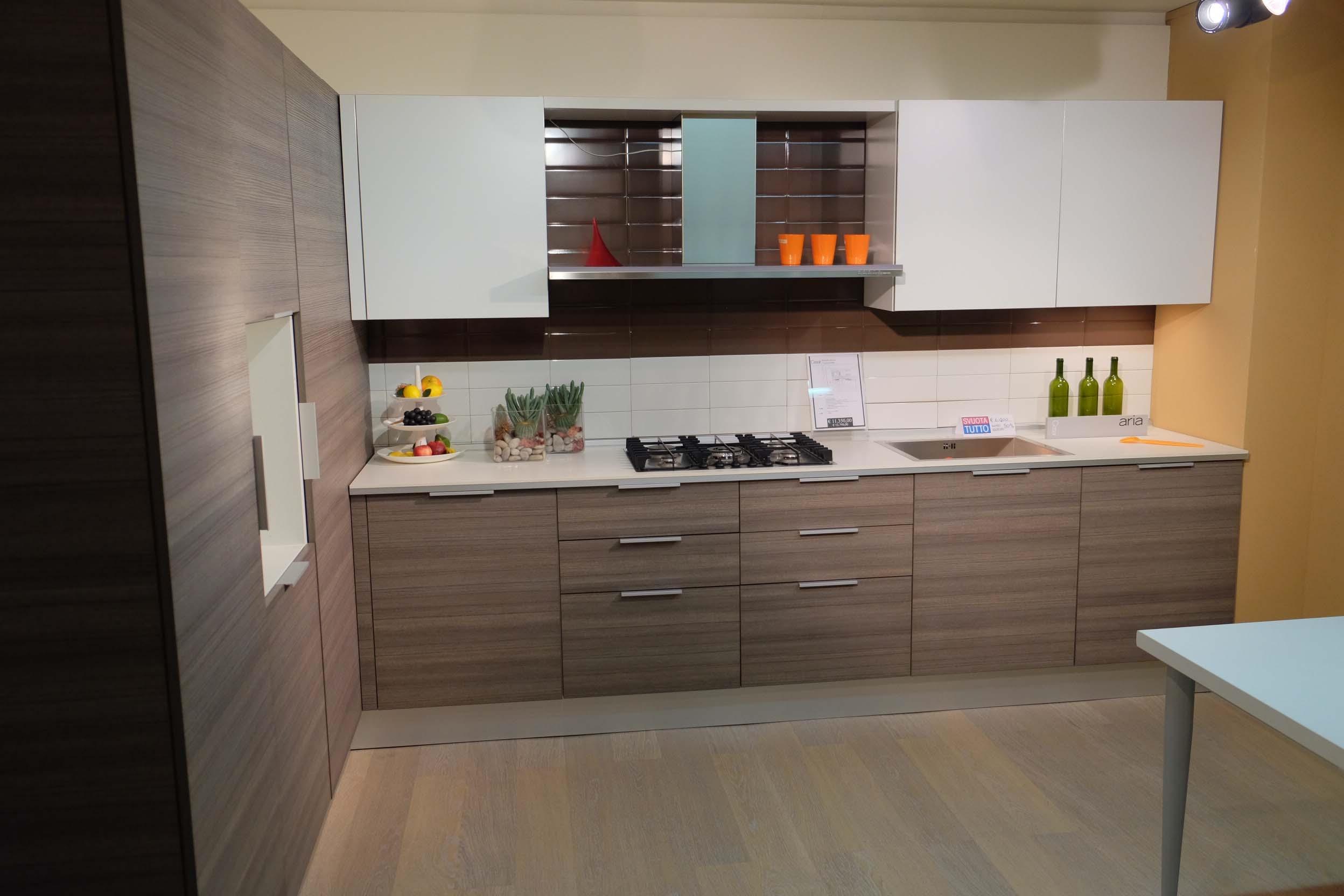Cucina Cesar Cucine Aria In Laminato Legno Rovere Grigio E Laminato  #AA5F21 2496 1664 Top Cucina In Laminato Opinioni