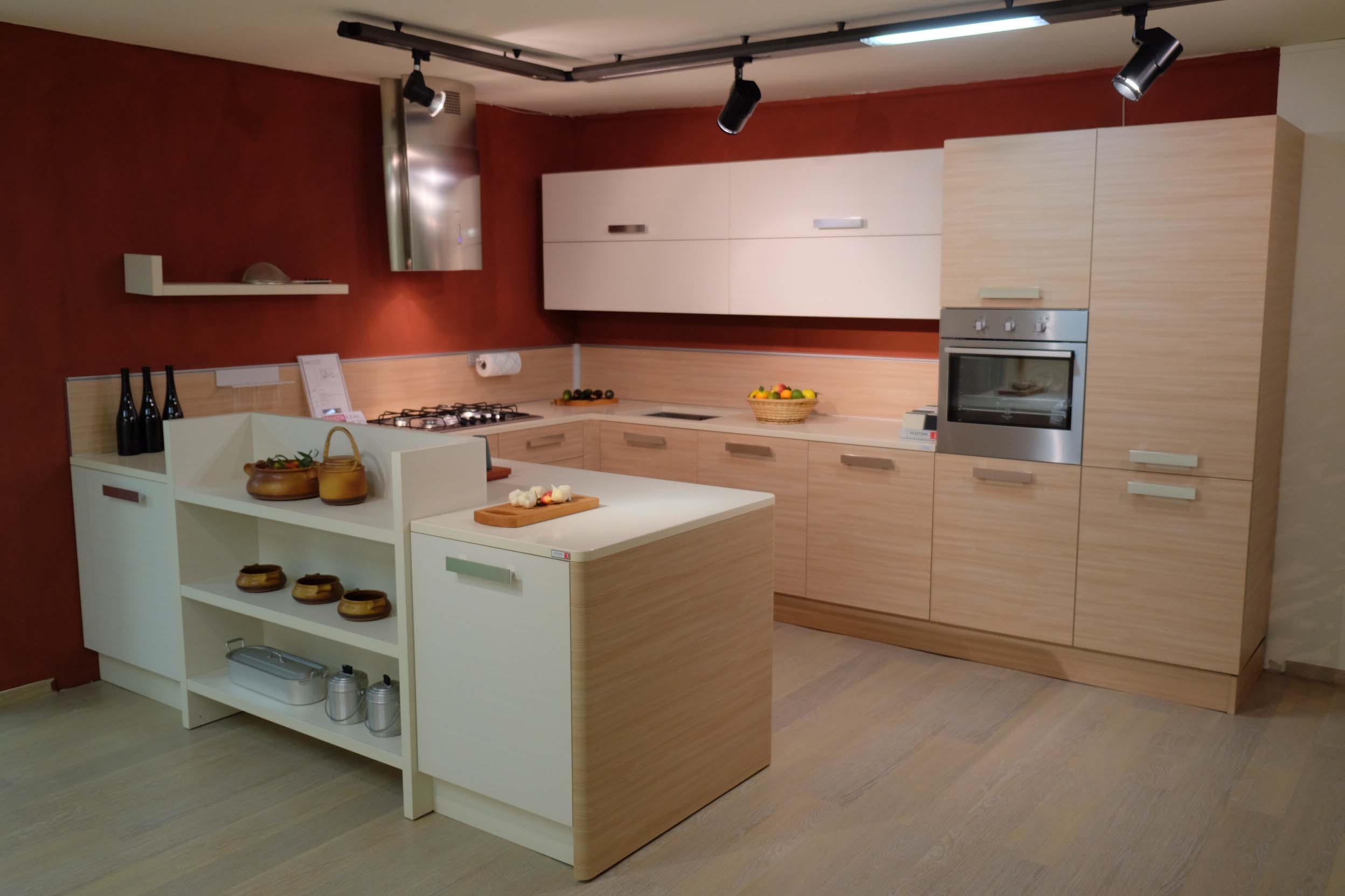 Cucina Moderna Laminato Rovere Moro E Rosso Jpg Pictures To Pin On  #3E1811 2496 1664 Veneta Cucine O Cesar