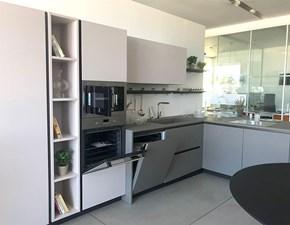 Cucina Cesar cucine moderna con penisola grigio in laccata Maxima 2.2
